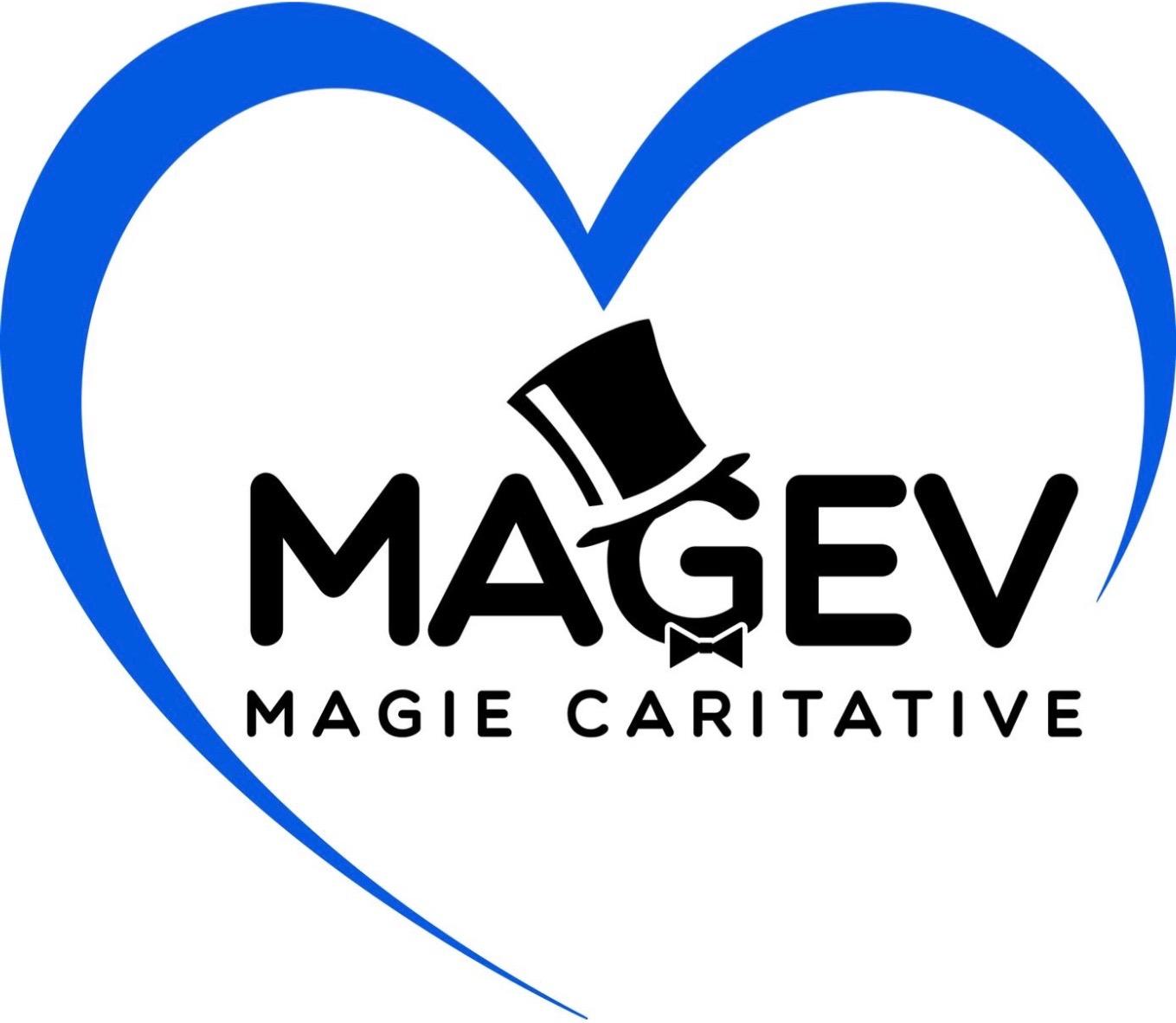 logo magev coeur magie caritative